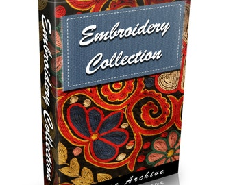 34 Old Embroidery Books on DVD Needlework Patterns Stitches Sewing Vintage Dressmaking Needles Thread