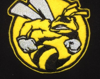 Wasp Circle Embroidered Patch Badge Iron on or sew