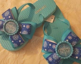 Disney Frozen Over The Top Bow Flip Flops