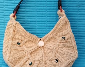 SALE.  SALE..L002.Hand knitted shoulder bag