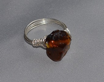 Sparkle glass wrapped ring