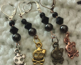 Lady Skull Stitch Markers