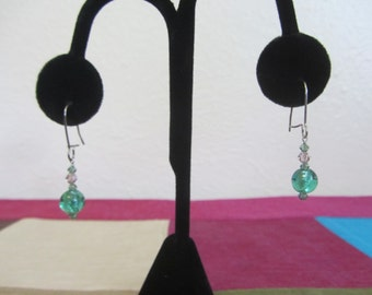 No. 100 Crystal and Glass Earrings