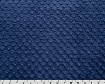 Navy Minky Fabric by the Yard by Shannon Fabrics