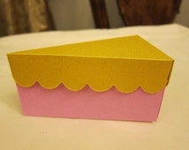 cake boxes for wedding cake slices popular items for cake slice box on etsy 2188