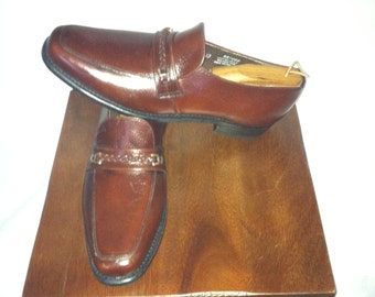 Vintage Stafford Brown Loafers with Top Braid