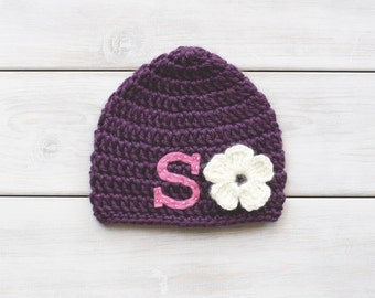 Personalized Monogrammed Crochet Hat