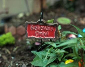 Fairy Sign. Fairy Garden Accessory.