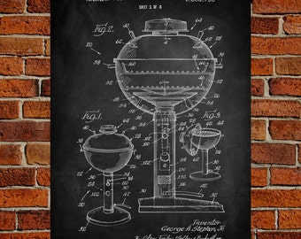 Gas Grill Art Print, Gas Grill Patent, Gas Grill Vintage, Gas Grill Blueprint, Gas Grill Print, Gas Grill Prints, Wall Art, Decor