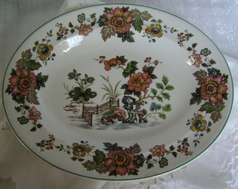 Wedgwood Eastern Flowers oval serving dish or platter.