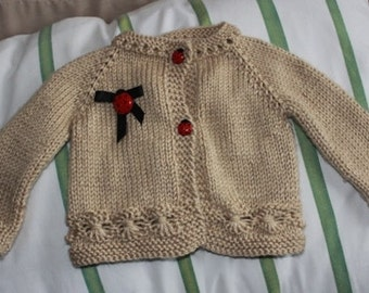 Lady Bug baby sweater