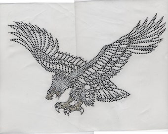 "Rhinestone ""Eagle"" Iron-On"