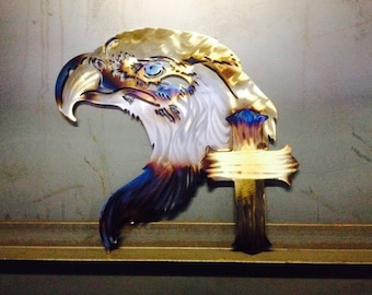Patriotic Eagle with Cross