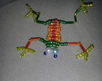 Beaded Frogs