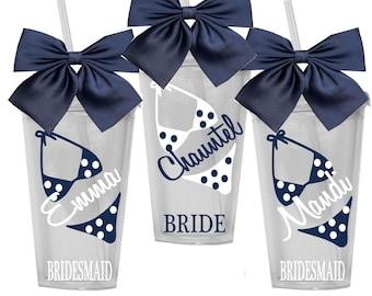 6 Personalized Bridesmaid Tumbler