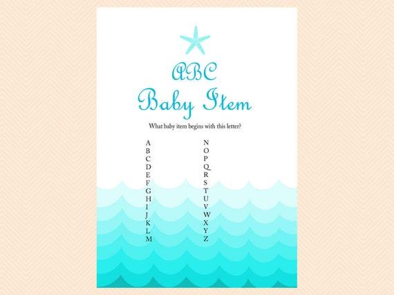 alphabet baby item game ABC A to Z Baby Item Nautical Baby