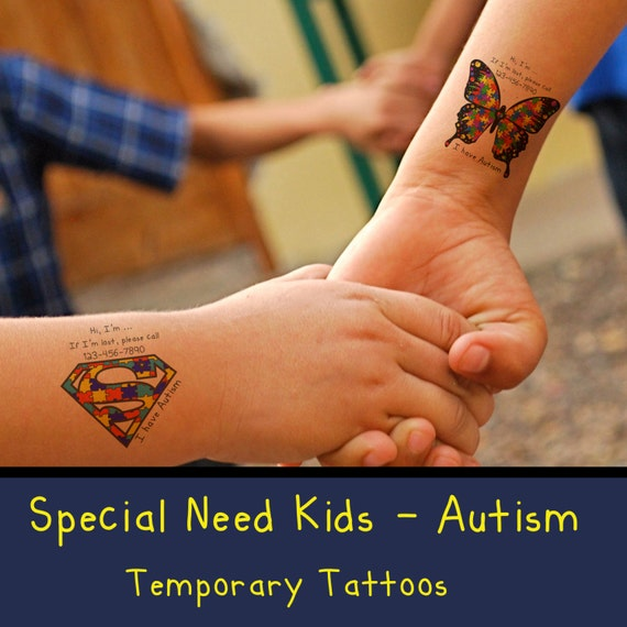 Autism special need kids temporary tattoos by for Temporary tattoos kids