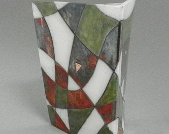 Raku ceramic vase #2