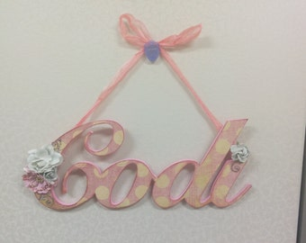 Embellished Name Wall Hanging