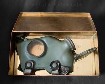 Dutch WW2 gas mask Gasmasker II