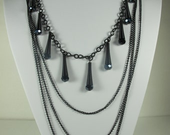 Hematite  Layered Necklace