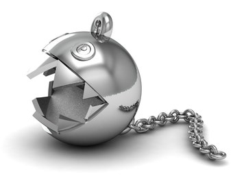 Chain Chomp Pendant in Sterling Silver .925
