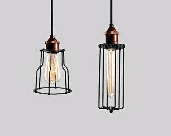 Industrial Lighting Wire Metal Cage Vintage Hanging Lamp