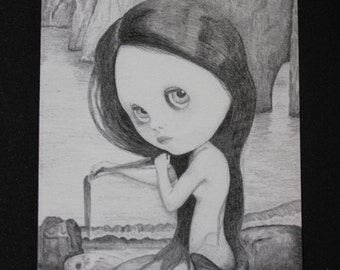Blythe Mermaid ACEO - Limited Edition Print