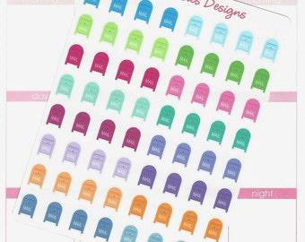 64 Post Office Mailbox Stickers for Erin Condren Life Planner, Plum Paper, Filofax or Kiki K Planners, Calendars or Scrapbooks
