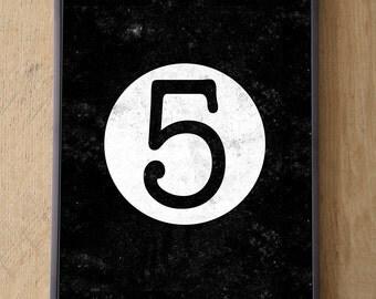 NUMBER FIVE PRINT