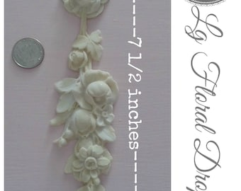 Beautiful Lg floral drop applique! #13 (Set of 2 )