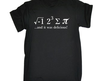 Maths Pie Tshirt I Ate Sum Pi and It Was Delicious Unisex Loose Fit T-Shirt Mathematics Pie Food Top Science Tasty Tee Hungry Eat Gift Math