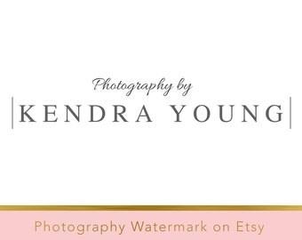 DIY Pre-made Logo Design - Photography Watermark - Photoshop Logo - Photoshop Watermark - PSD Watermark - PSD file  - Typography Logo 14