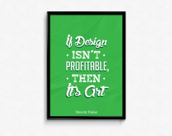 Graphic Design Custom Green Typography Poster