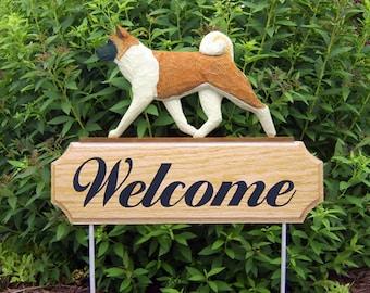Akita Welcome Garden Stake