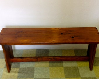 Entryway Bench/ Rustic/End of Bed Bench/ Reclaimed Barn Board Wood