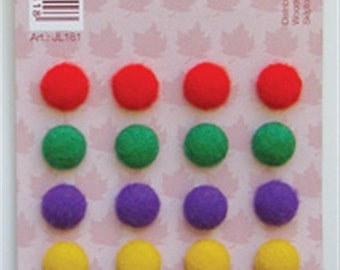 Brads- in bright felt - 20 pieces in pack
