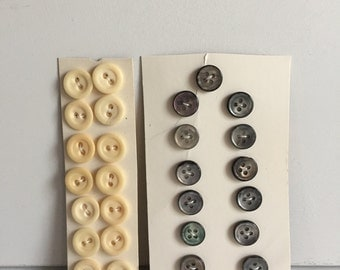 Bone and Mother of Pearl Buttons