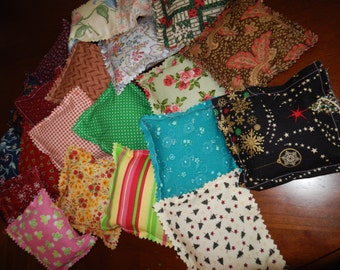 """Lined CEDAR SACHET Bags ~ Cotton Sachets for your drawers ~ 5"""" squares"""