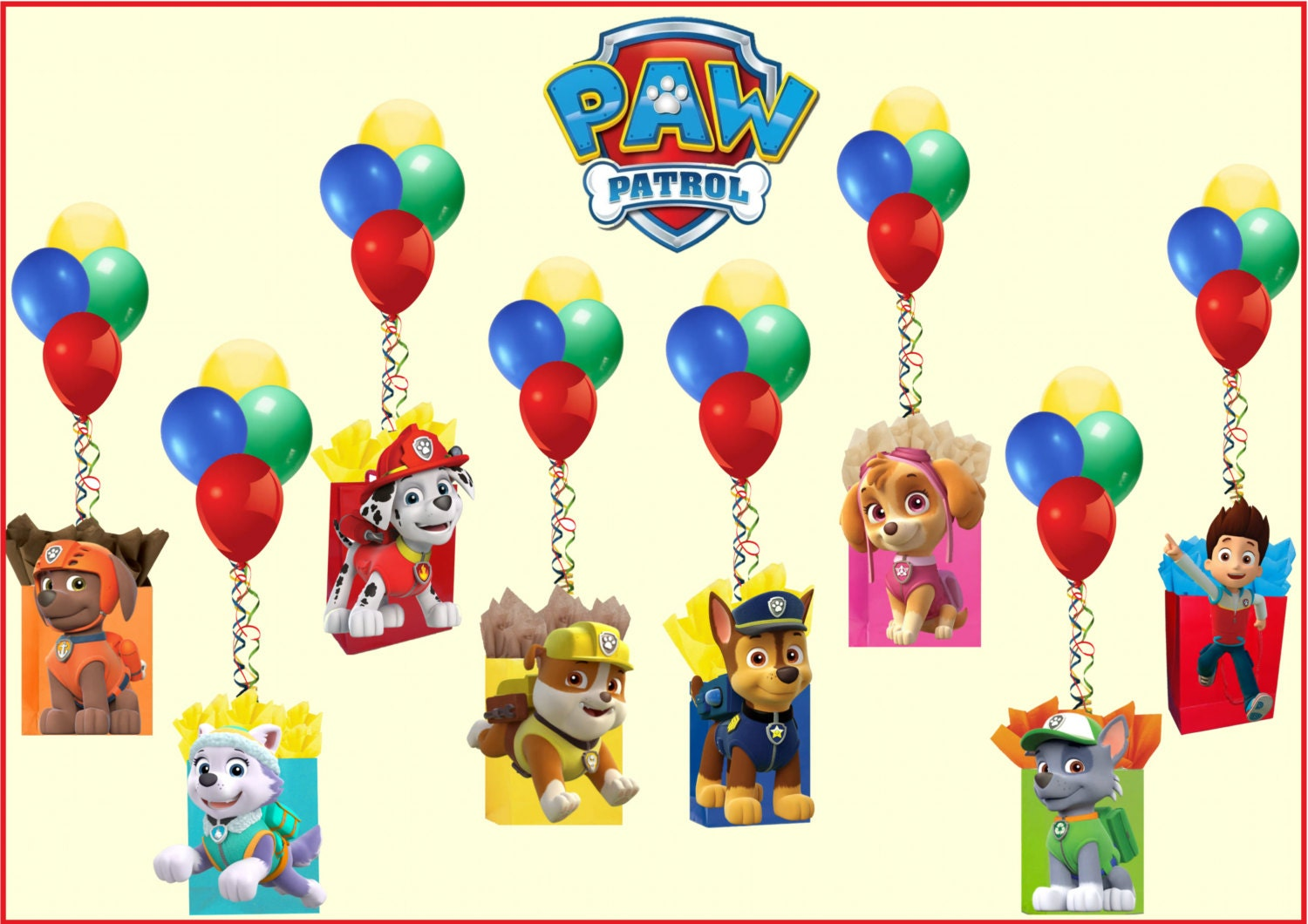 Paw patrol balloon weights centerpieces free by