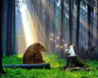 Friendship between the Bear and the Rabbit