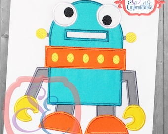 Rudy Robot Applique Design For Machine Embroidery INSTANT DOWNLOAD