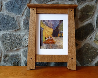 Mission Style Picture Frame 11x14 Opening 8x10 w/Matt