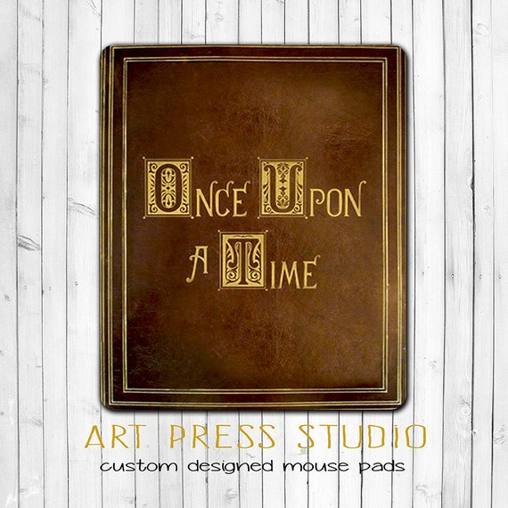 Once Upon a Time Mouse Pad Fairy Tale Book Mouse Pad Fairy Tale Book Once Upon A Time