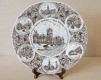 Vintage Le Vieux Quebec Wood & Sons English Ironstone Decorative Plate - England