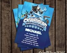 Dark Skylanders Invitation, Skylanders Birthday Party Design, Skylanders Digital File Design - SK_2