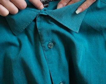 Vintage blue shirt size L
