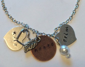 Free Shipping! Custom Name Jewelry With Charms