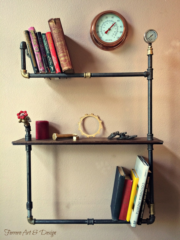 Steampunk Shelf Unique Wall Decor Industrial By
