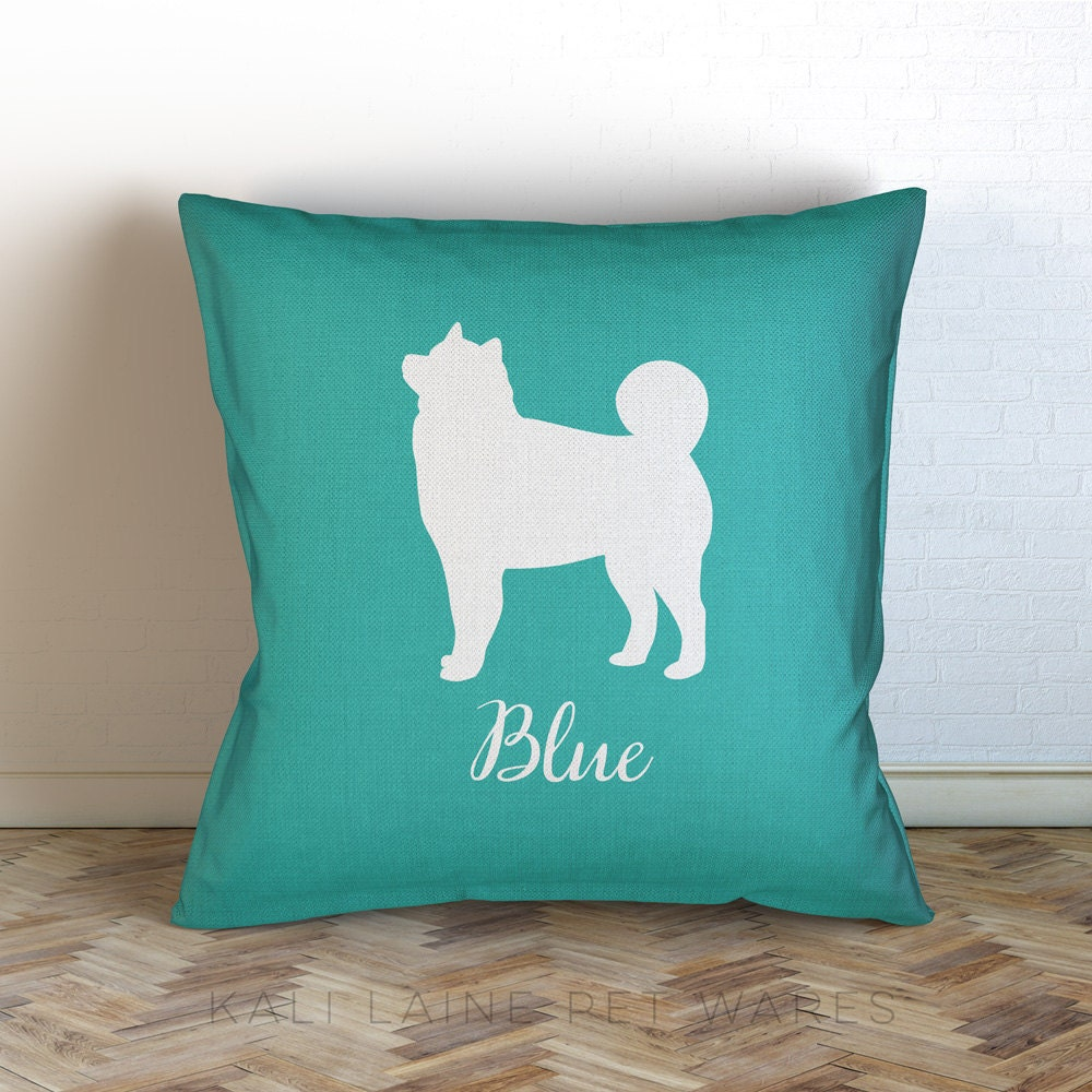 Personalized Dog Throw Pillows : Custom Dog Name Decorative Throw Pillow/ HUSKY / Personalized/